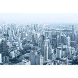 Panoramic view of nice big city