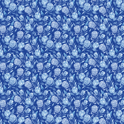 Blue Protea Floral Pattern - Sample Kit