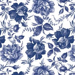 Blue Southern Rose Pattern Thumbnail Pattern - Sample Kit