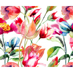 Bright Watercolor Flowers - Sample Kit