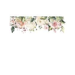 Cascading Floral Header