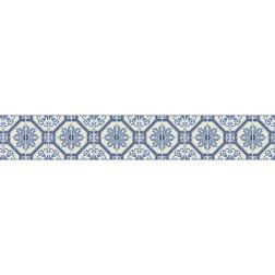 Mosaic Tile (Blue) - Stair Wrap