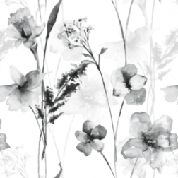 Wild Flowers Pattern (B&W)