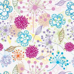 Bright Floral Outline Pattern - Sample Kit