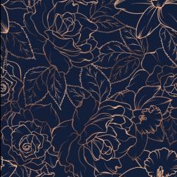 Copper Rose Pattern
