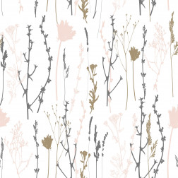 Floral Stems Silhouette Pattern