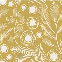 Golden Botanical Pattern