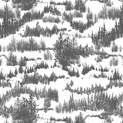 Snowy Pines Pattern