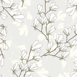 White Magnolia Pattern