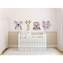 Watercolor Animals Decal Set